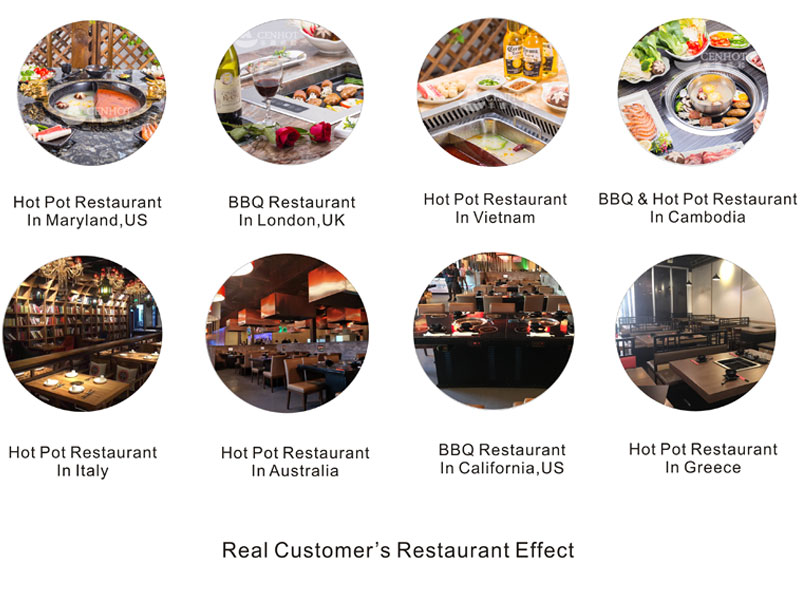 CENHOT-real-customers' Charcoal Grill restaurant-projects