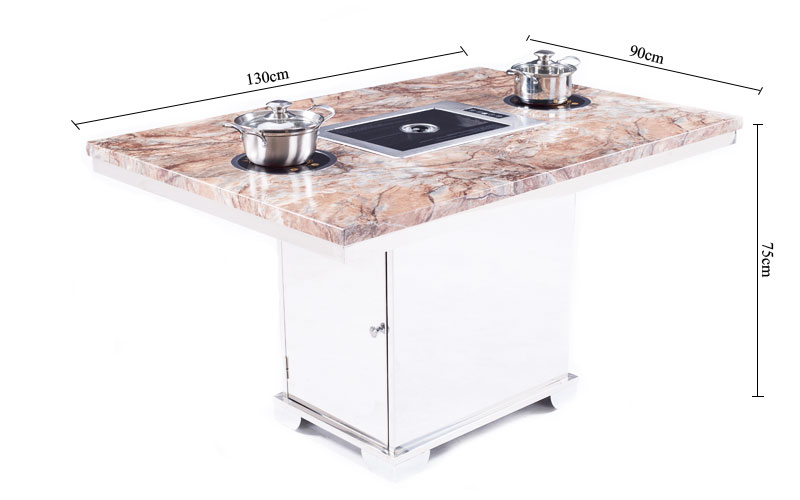 Smokeless Hot Pot With Korean Barbecue grill Tables' size-CENHOT