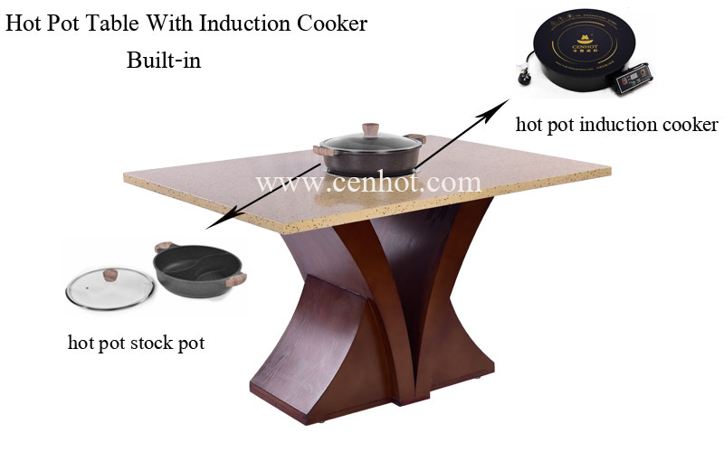 CENHOT-Custome-Hot-Pot-Table-With-1-Big-Induction-Cooker-effect---CH-T22