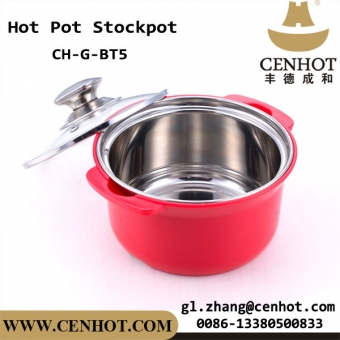 set de cocción de hotpot de acero inoxidable chino mini cookware de olla caliente