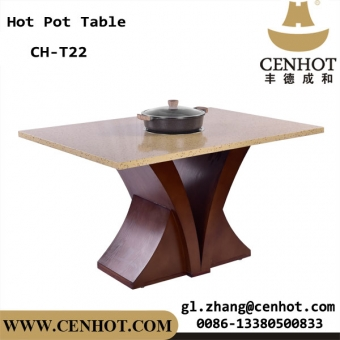 Cenhot Custome Hot Pot Table con 1 gran cocina de inducción