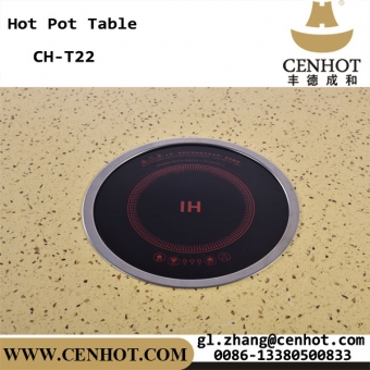 cenhot custome restaurant hot pot mesa con cocina de inducción ch-t22