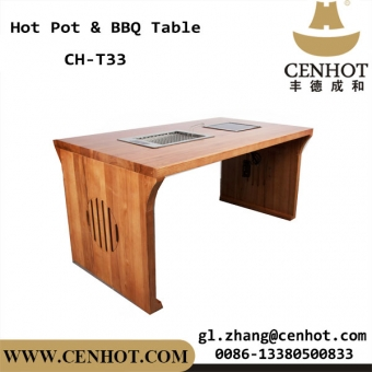 restaurante de cenhot hot pot table y barbacoa tabla